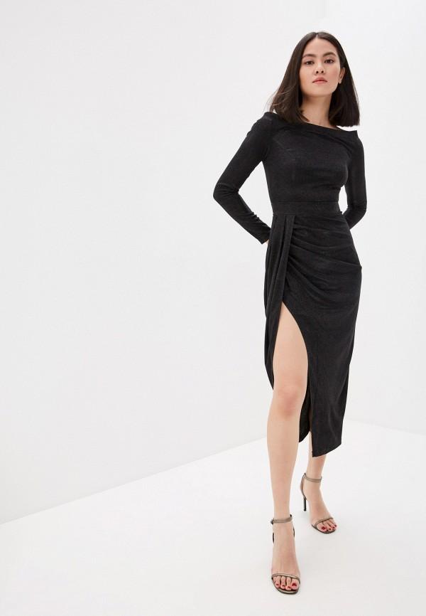 женское вечерние платье mist, черное