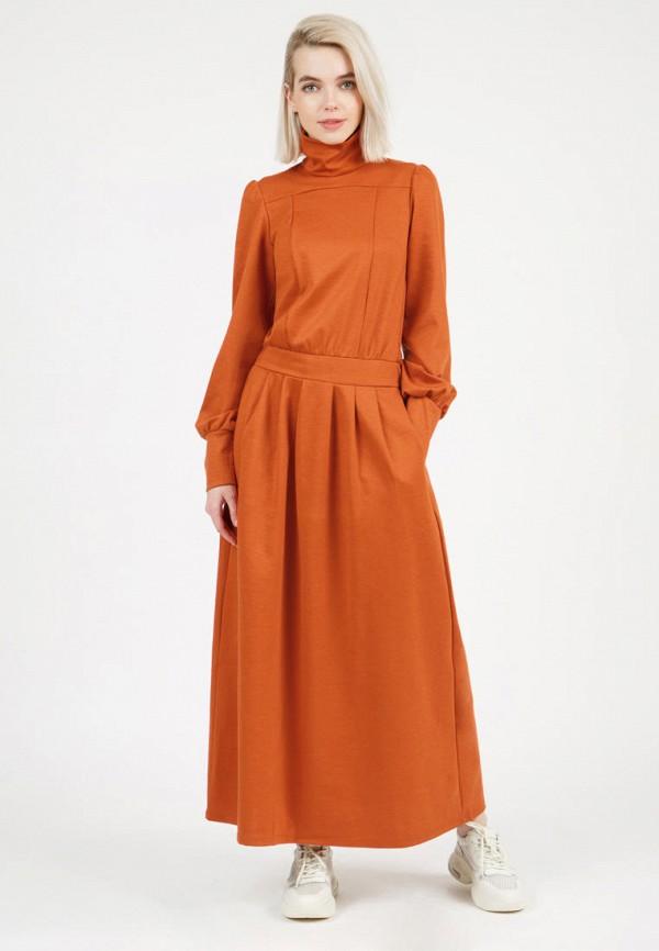 женское повседневные платье olivegrey, оранжевое