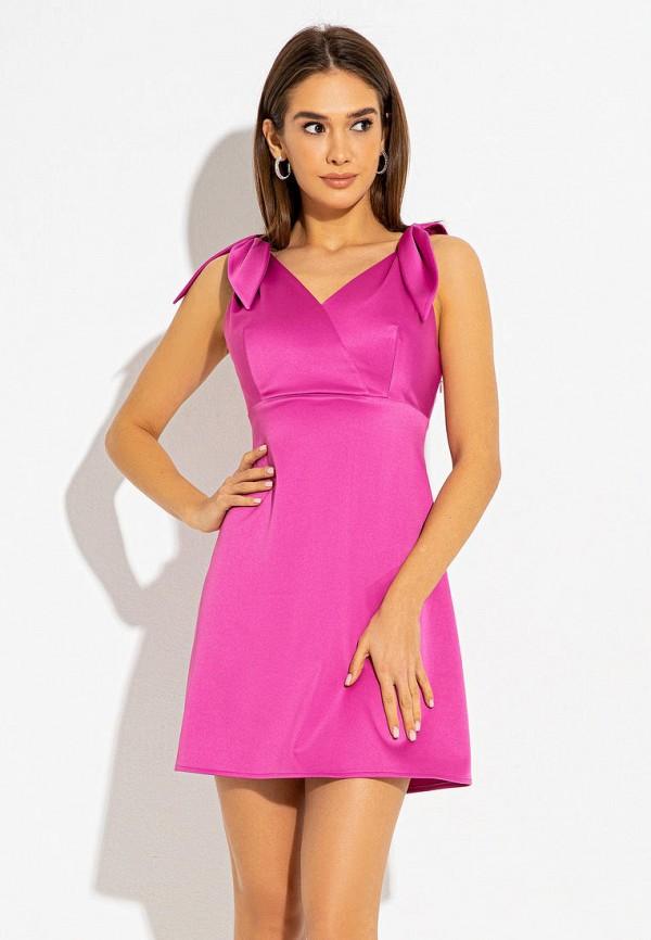 женское вечерние платье itelle, розовое