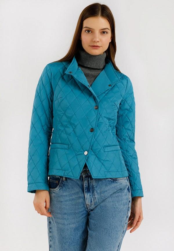 женская куртка finn flare, бирюзовая