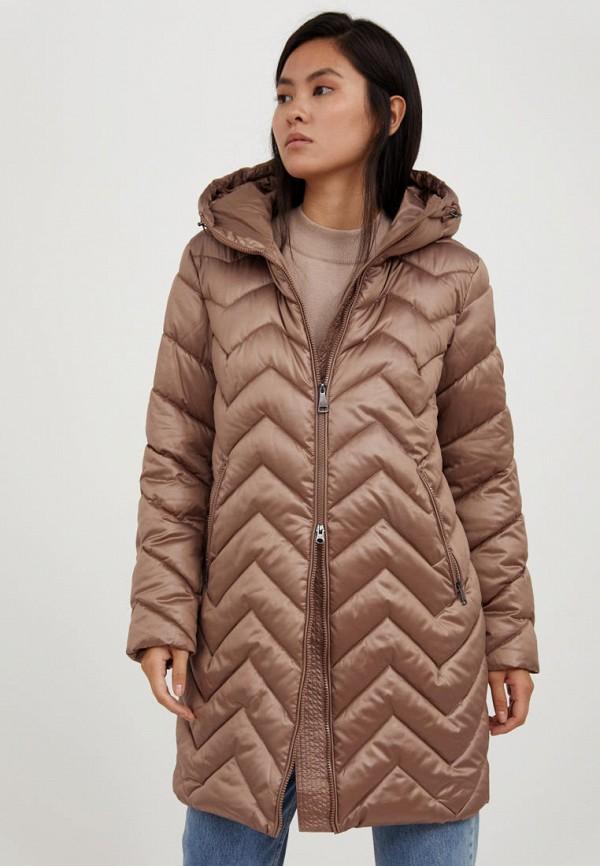 женская куртка finn flare, коричневая