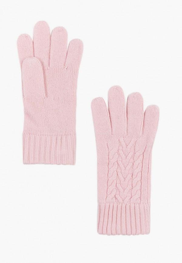женские перчатки finn flare, розовые