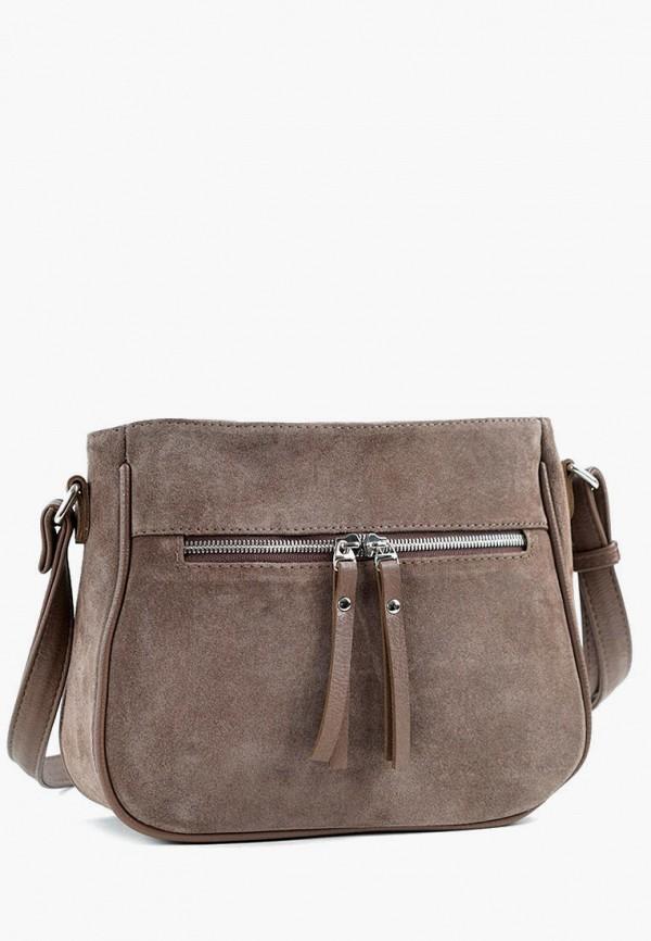 женская сумка через плечо vita, коричневая