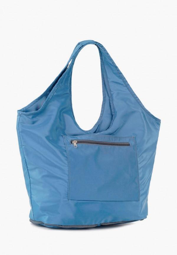 женская сумка-шоперы vita, голубая