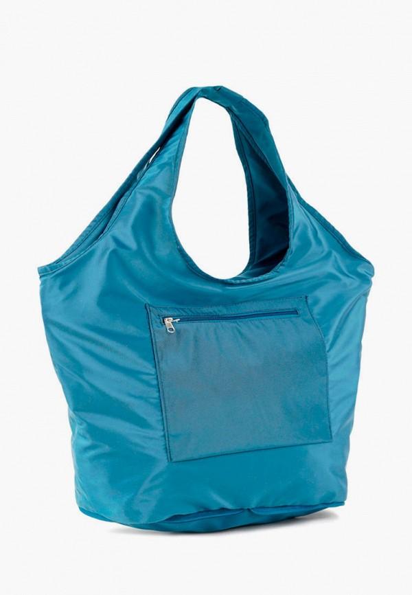 женская сумка-шоперы vita, бирюзовая