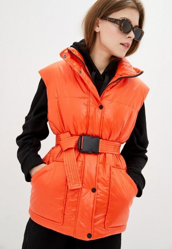 женский жилет sfn, оранжевый