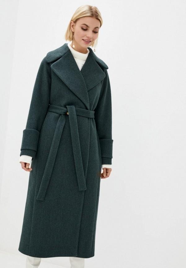 женское пальто sfn, бирюзовое