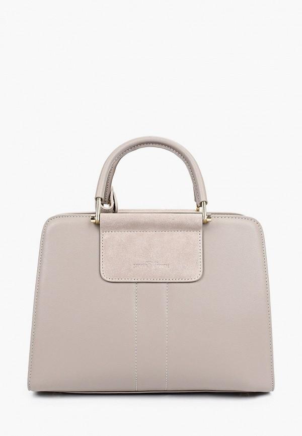 женская сумка с ручками silver finch, серая