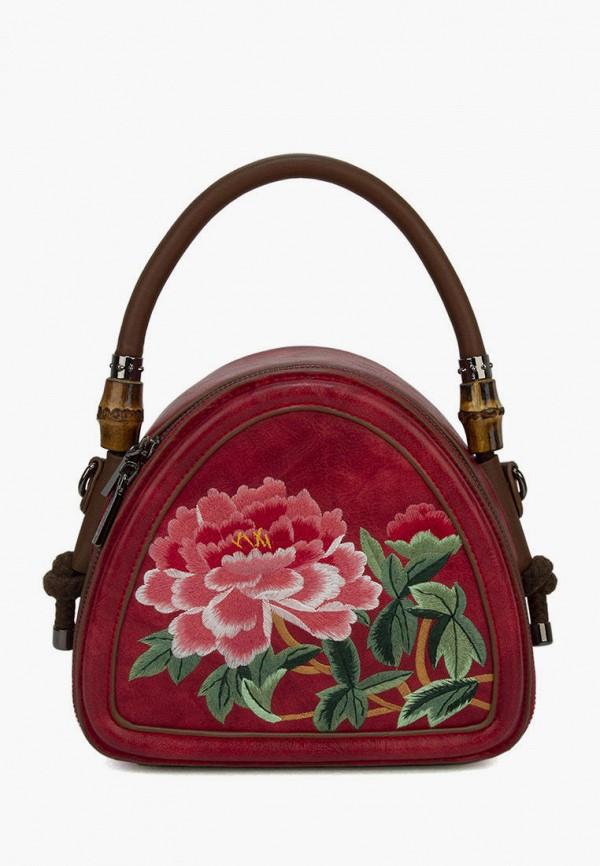 женская сумка с ручками laccoma, красная