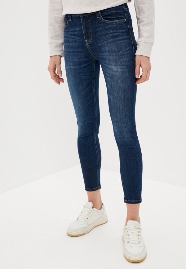 женские джинсы скинни antiga, синие
