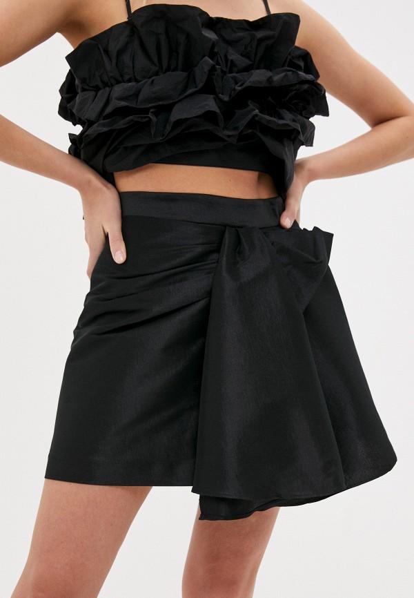 женская юбка-трапеции lime, черная
