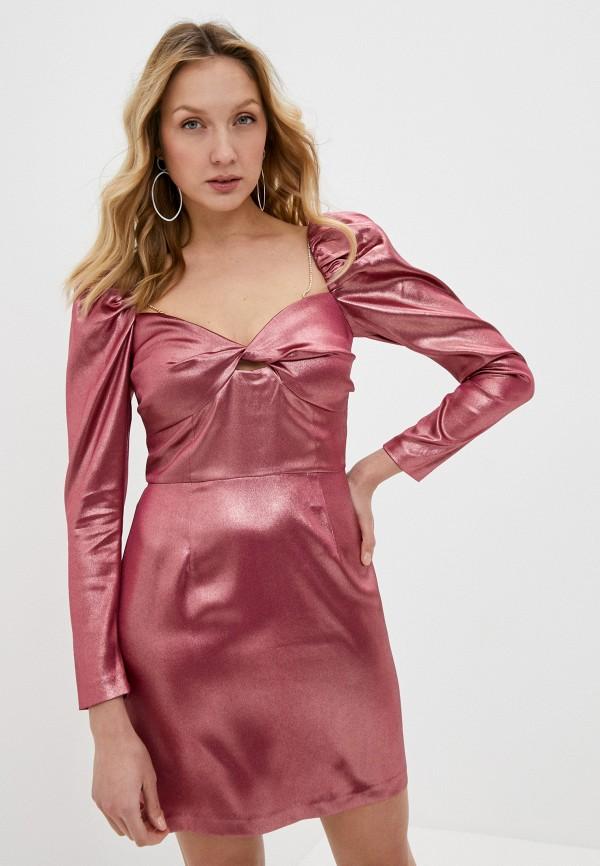 женское вечерние платье lime, розовое