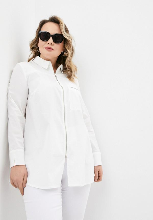 женская рубашка с длинным рукавом helmidge, белая