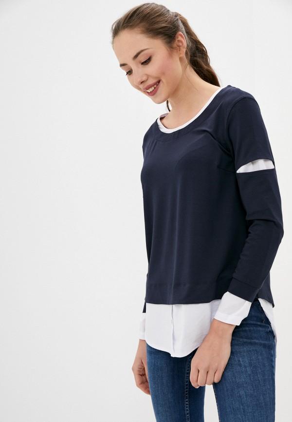 женская блузка с длинным рукавом helmidge, синяя