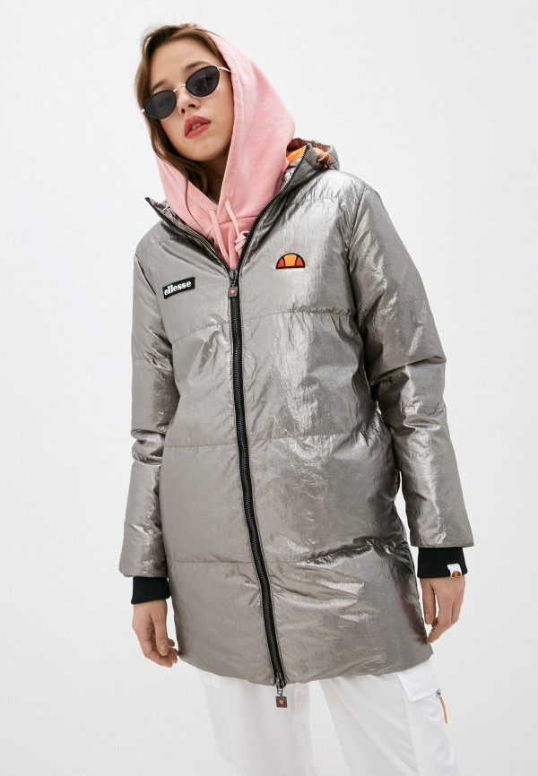 женская спортивные куртка ellesse, серебряная