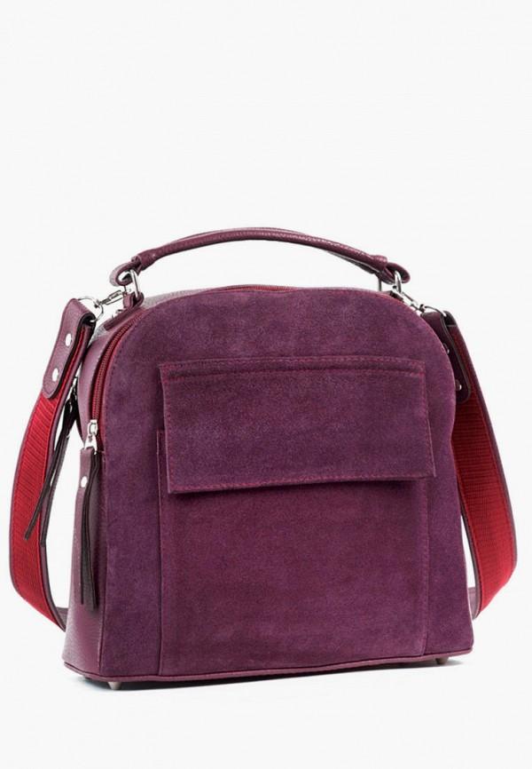 женская сумка с ручками vita, фиолетовая