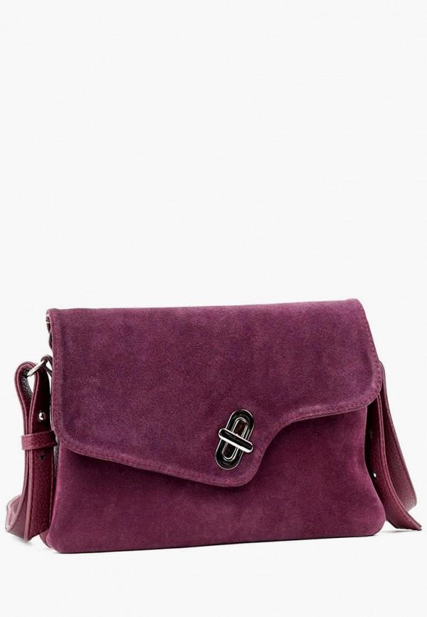 женская сумка через плечо vita, фиолетовая