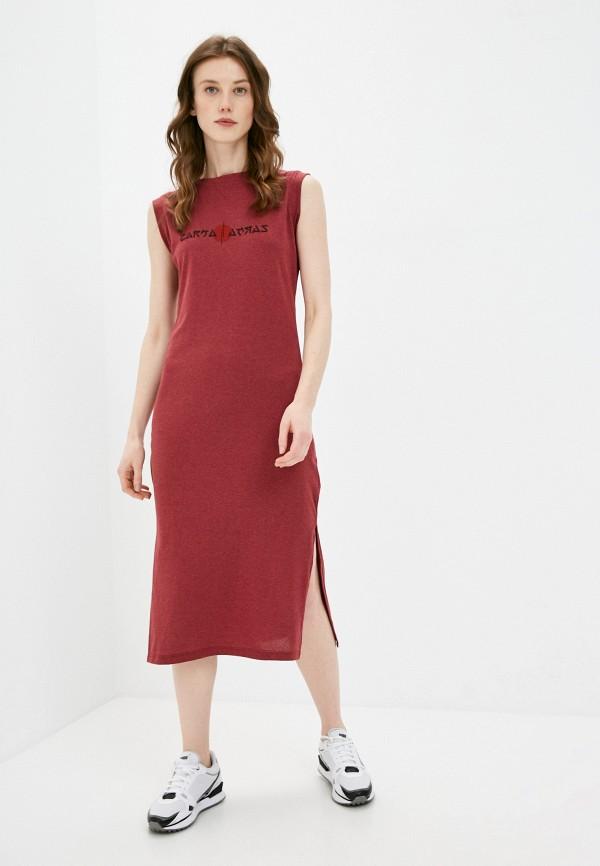 женское платье zarka, красное