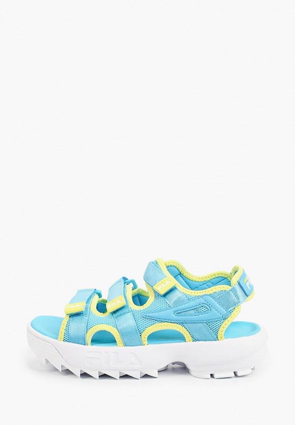 женские сандалии fila, голубые