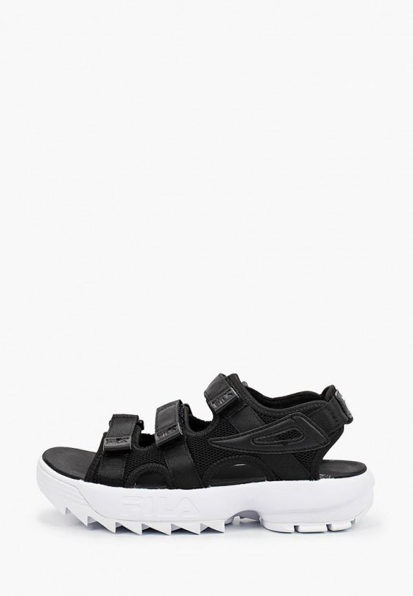 женские сандалии fila, черные