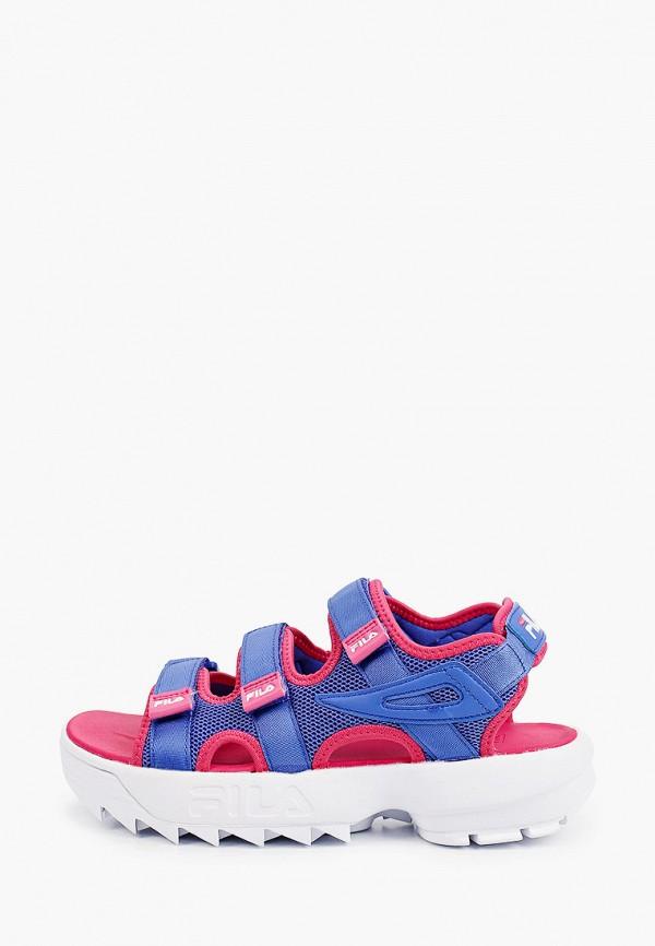 женские сандалии fila, синие