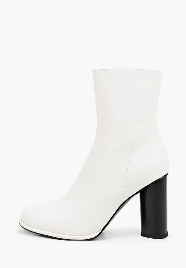 женские высокие ботильоны marco bonne', белые