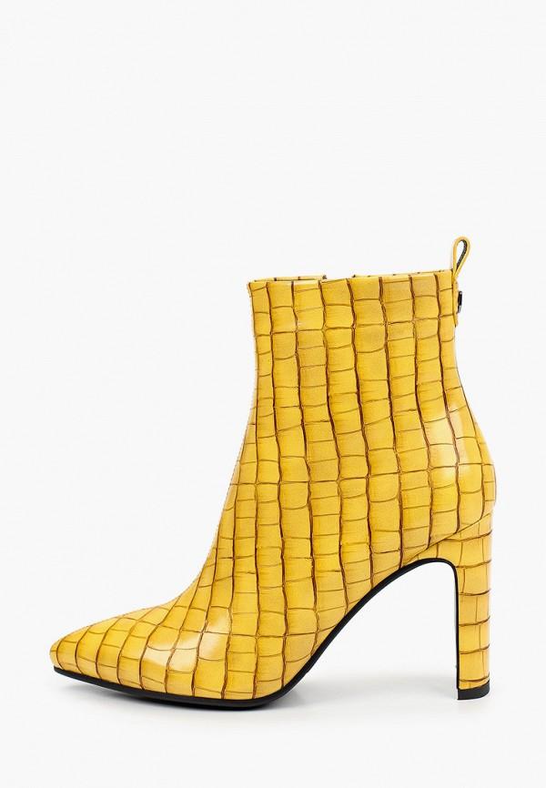 женские высокие ботильоны marco bonne', желтые
