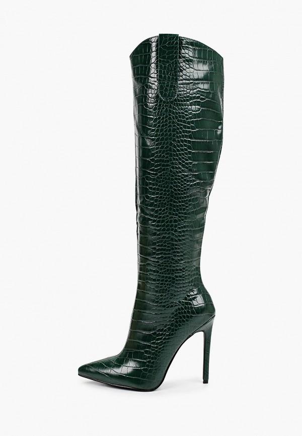 женские сапоги marco bonne', зеленые