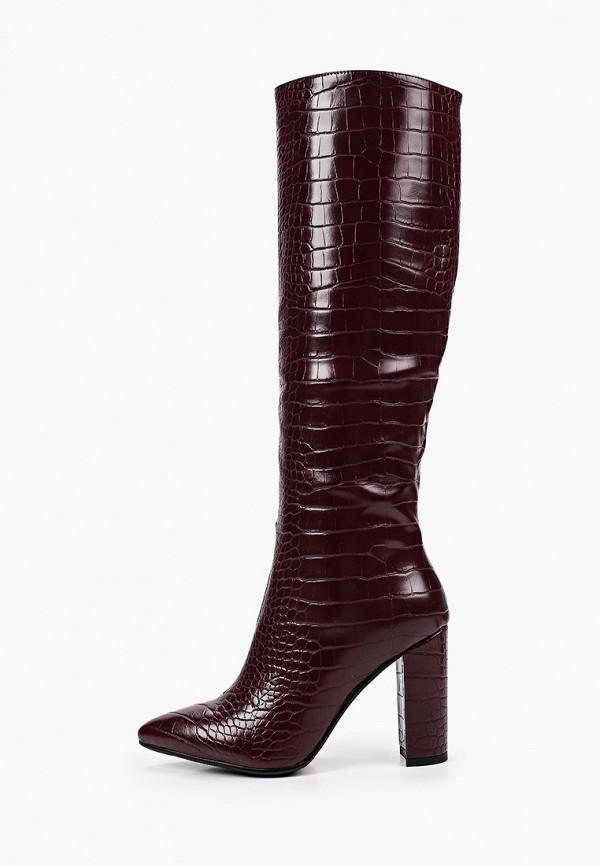женские сапоги marco bonne', бордовые