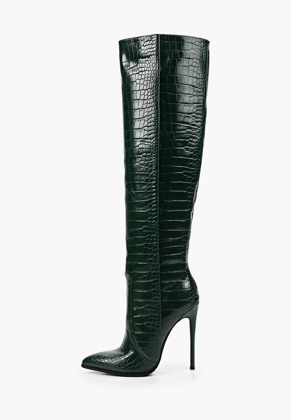 женские ботфорты marco bonne', зеленые