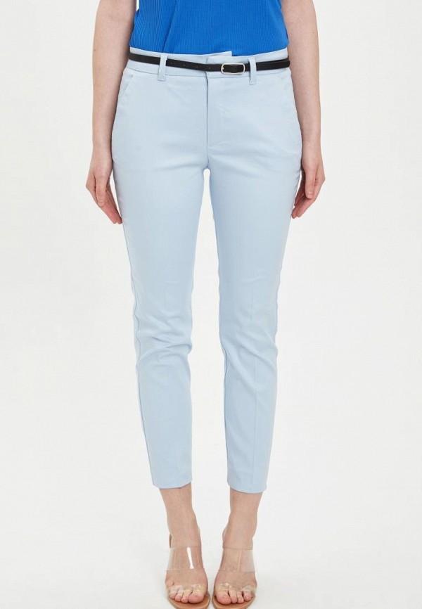 женские повседневные брюки defacto, голубые
