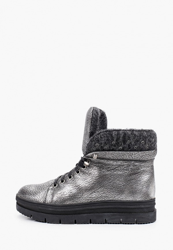женские высокие ботинки brazi, серебряные