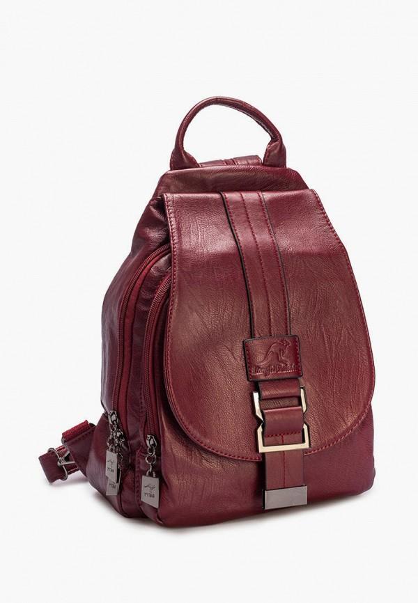 женский рюкзак sefaro exotic, бордовый