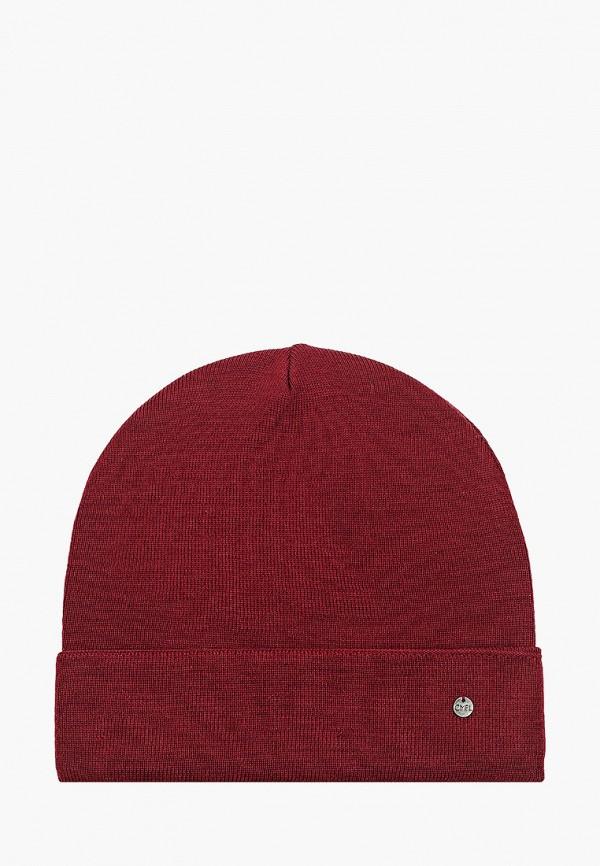 женская шапка coompol, бордовая