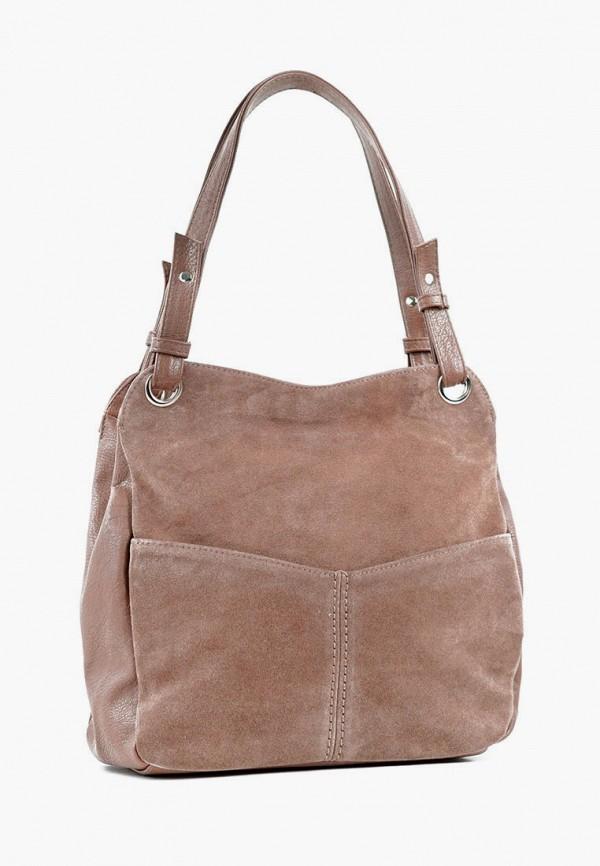 женская сумка с ручками vita, бежевая