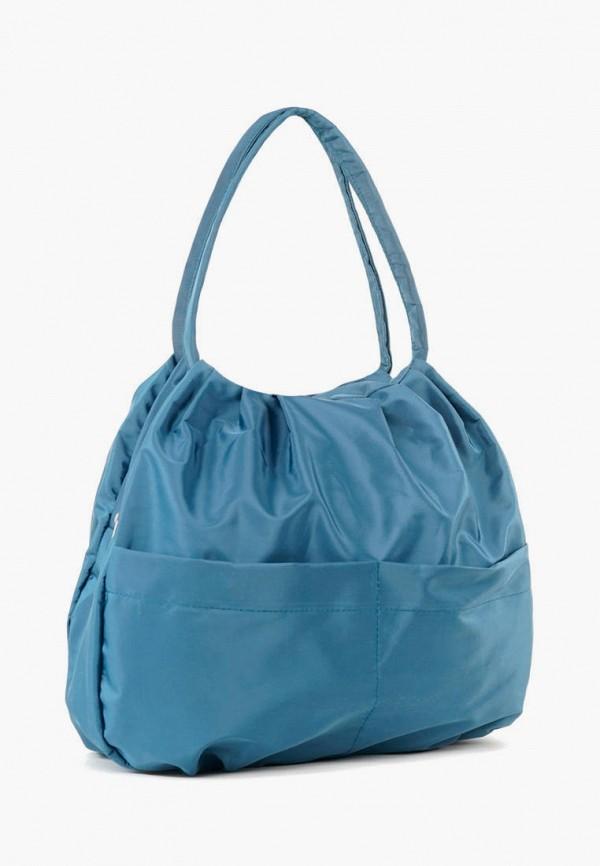 женская сумка с ручками vita, бирюзовая