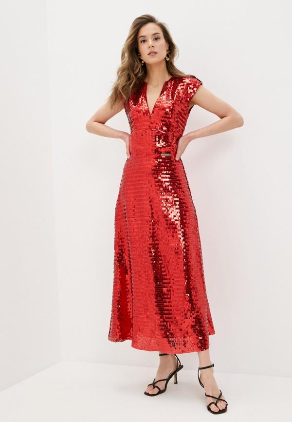 женское вечерние платье rich & naked, красное