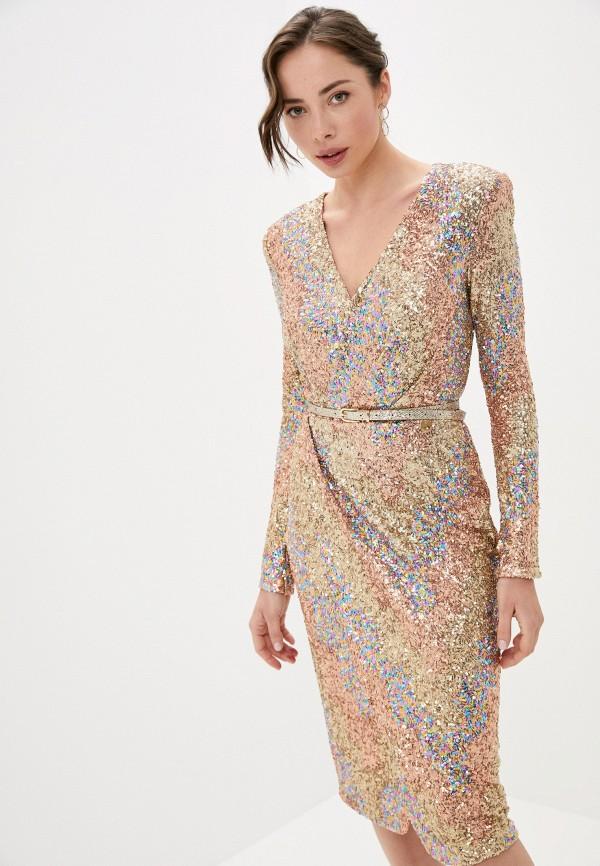 женское вечерние платье rich & naked, золотое