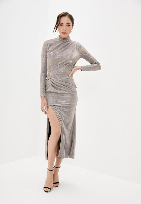 женское вечерние платье rich & naked, бежевое