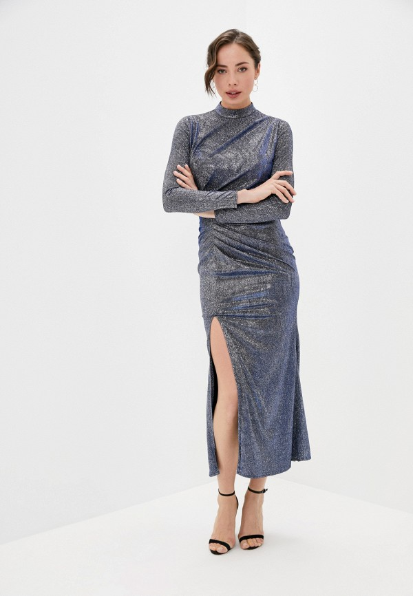 женское платье-футляр rich & naked, синее