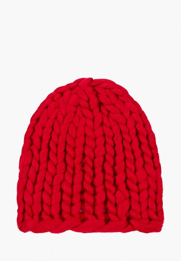 женская шапка живой шелк, бордовая
