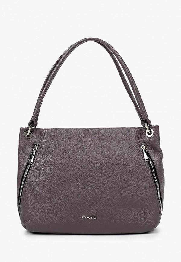 женская сумка с ручками fiato, фиолетовая