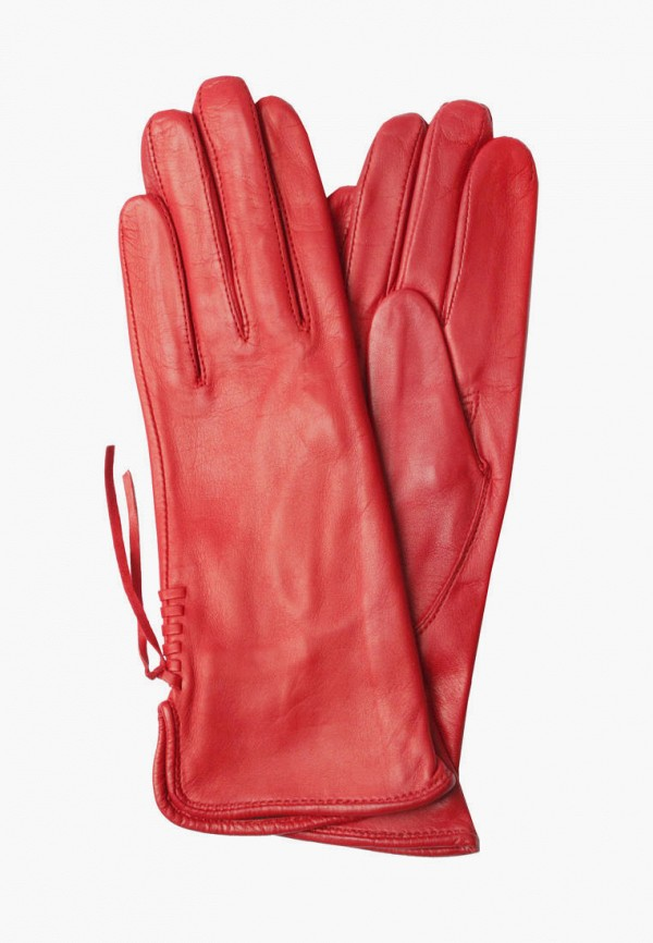 женские кожаные перчатки edmins, красные