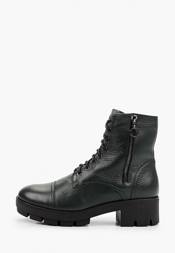 женские высокие ботинки argo, зеленые