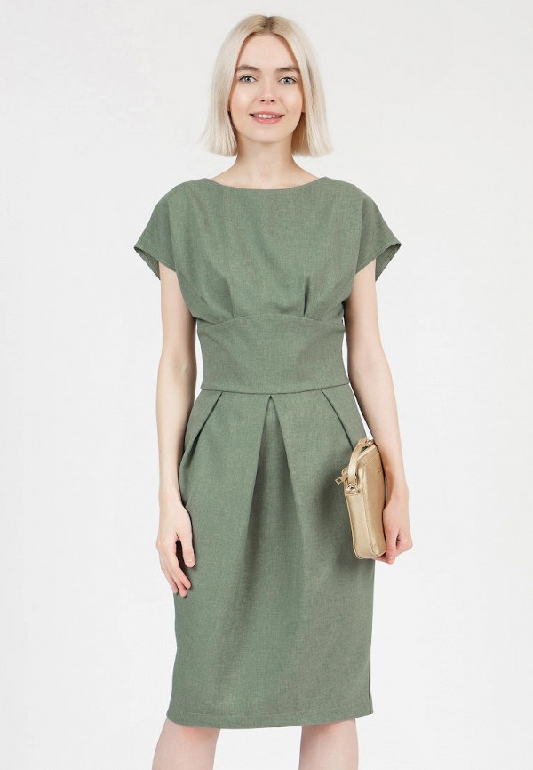 женское повседневные платье grey cat, зеленое