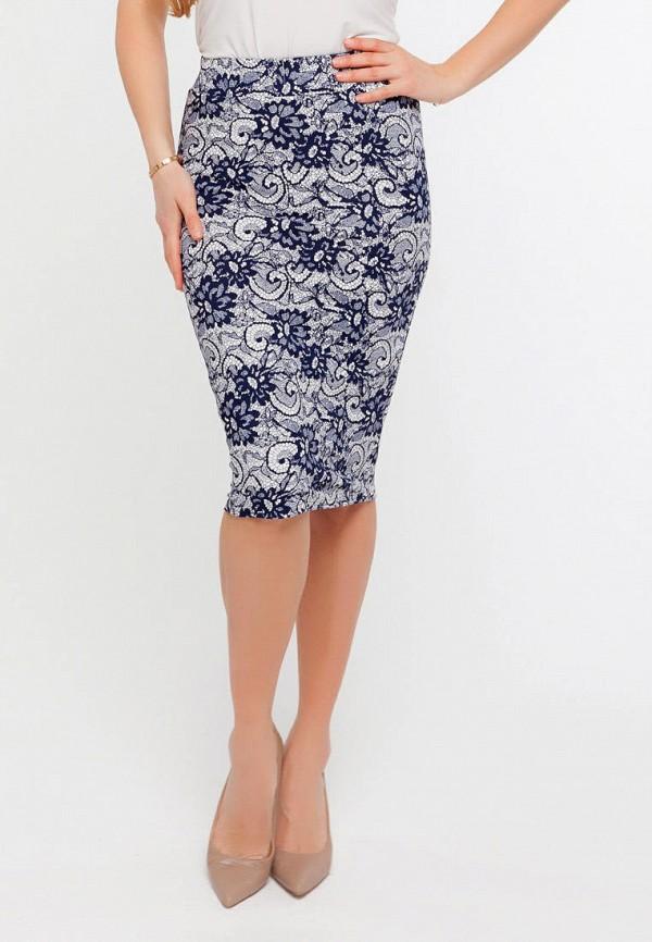 женская узкие юбка текстиль хаус, синяя