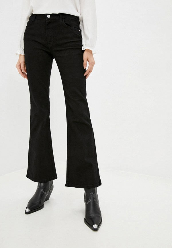 женские джинсы клеш defacto, черные