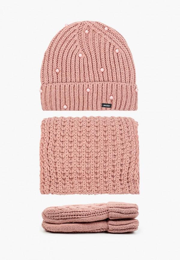 женский шарф jagga, розовый