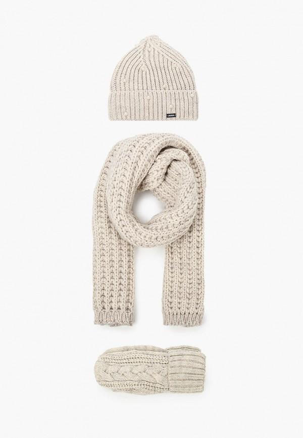 женский шарф jagga, бежевый