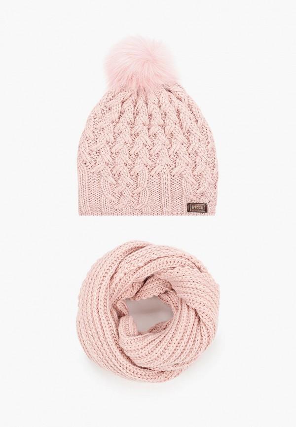 женский снуд jagga, розовый
